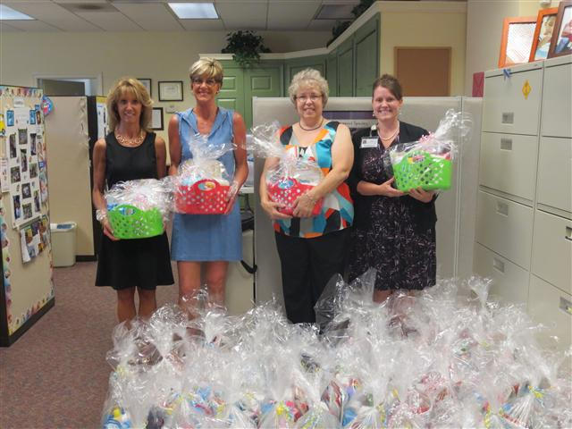 June 2014,   Phyllis Fletcher, Brunnae Lowery, Cindy Kelley with  BB&T Insurance Services organized an effort to  acquire, organize and gift Healthy Families with 50 New Baby Care Packages for distribution back into our community! Thank you!